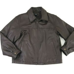 Colebrook Men's 100% Leather Brown Casual Jacket